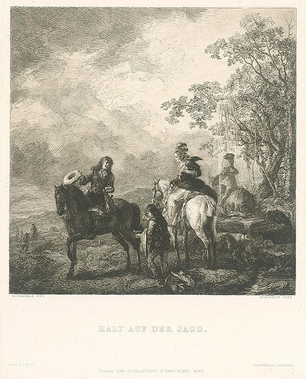 Wilhelm Krauskopf, Philips Wouwerman, Wouwerman Philippe Krauskopf - Zastávka počas lovu