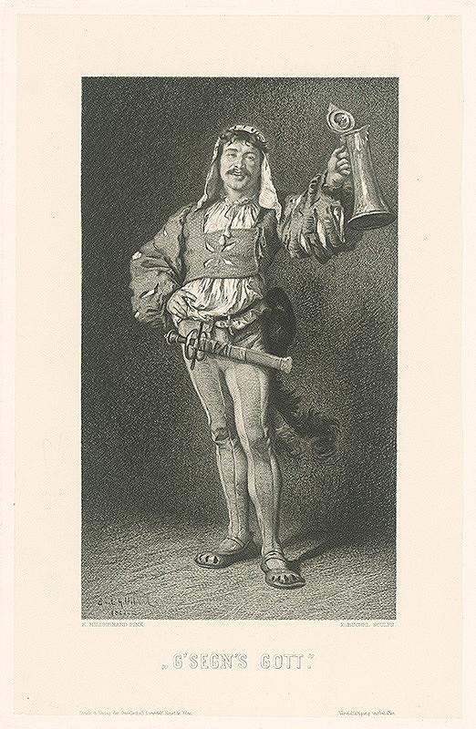 Eduard Büchel, Ernst Hildebrand - Pripíjajúci žoldnier
