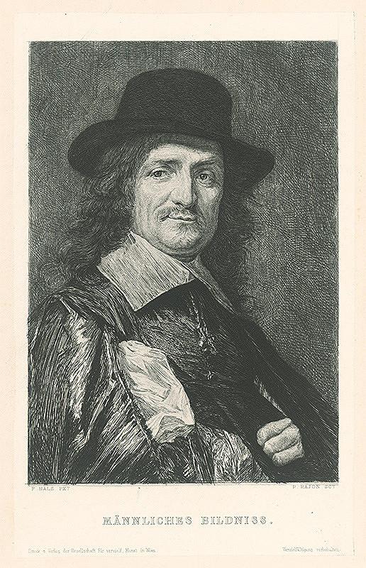 Paul Adolf Rajon, Frans Hals, P. Rajon - Podobizeň muža
