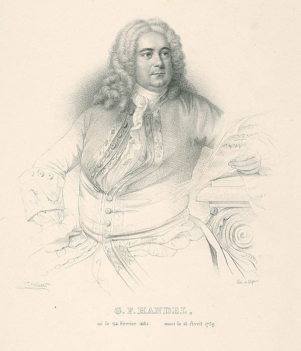 Zéphirin Félix Jean Marius Belliard, François Séraphin Delpech - Podobizeň skladateľa G.F.Händla