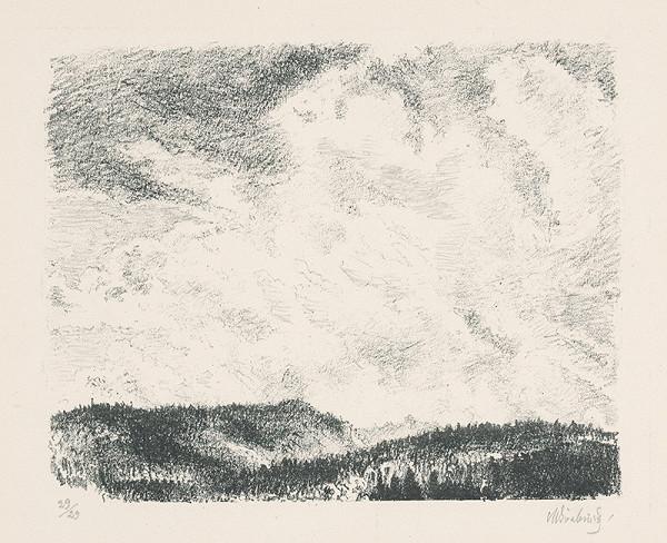 Max Švabinský – Oblaky nad Muránskou planinou