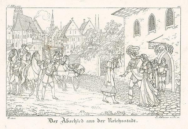 Ludwig Ferdinand Schnorr von Carolsfeld - Rozlúčenie s mestom