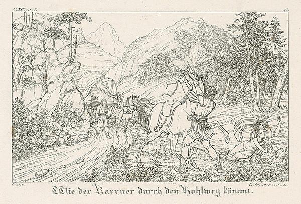 Ludwig Ferdinand Schnorr von Carolsfeld - Po ceste prichádza furman