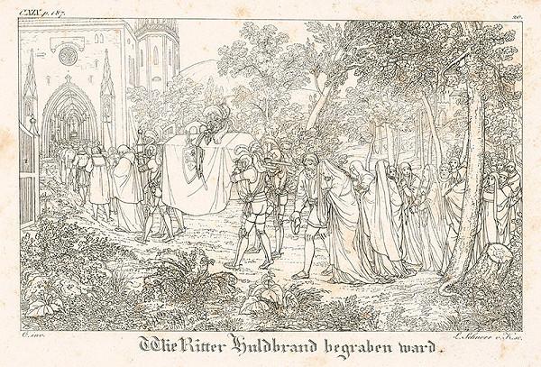 Ludwig Ferdinand Schnorr von Carolsfeld - Pochovávanie rytiera