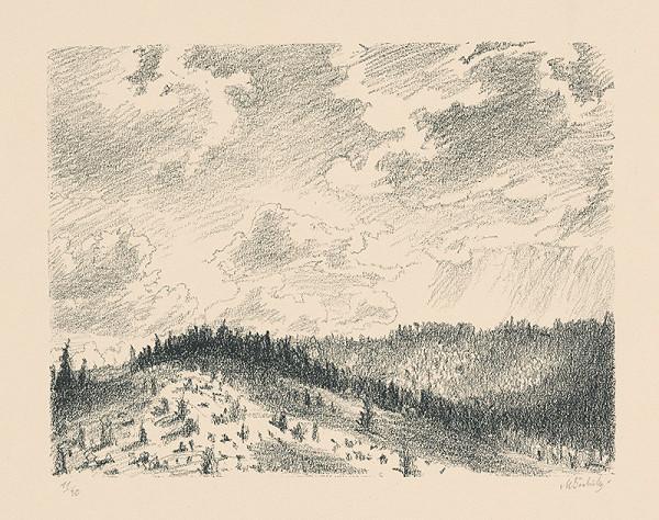 Max Švabinský - Mraky nad lesmi