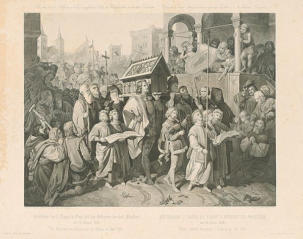 J. Leopold Schmidt, Josef Mathias von Trenkwald - Príchod Břetislava I. do Prahy s relikviami sv. Vojtecha