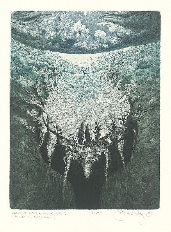 Albín Brunovský – Labyrint sveta a raj srdca VII.: Plavba k raju srdca, 1990, Slovenská národná galéria