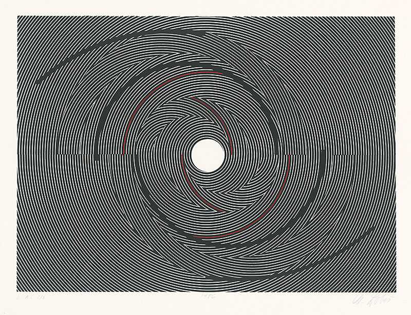 Milan Dobeš – Štrukturálna grafika, 1986, Slovenská národná galéria