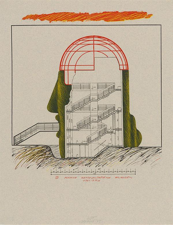 Jozef Jankovič - Architektúry IX. Projekt reprezentačného maliarskeho ateliéru