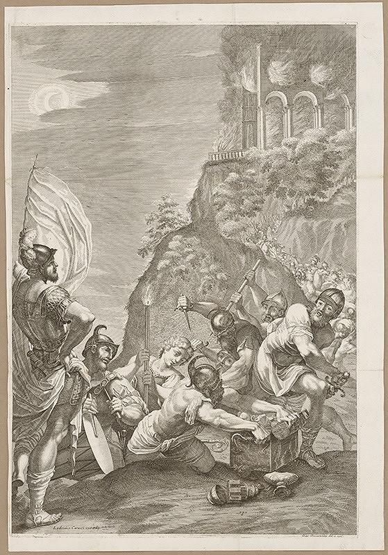 Giacomo Maria Giovannini, Lodovico Carracci – Góti pri pľundrovaní kláštora Monte Cassino