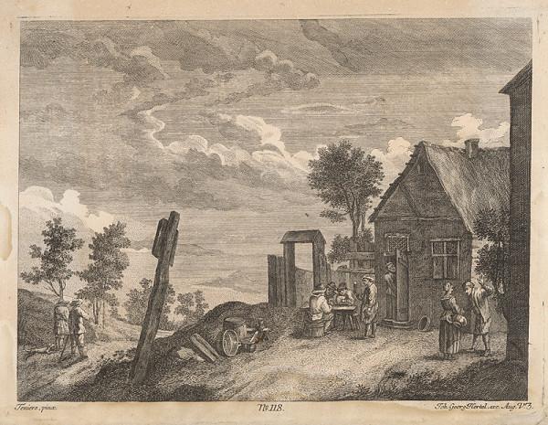David Teniers, Johann Georg Hertel – Kartári pred hostincom