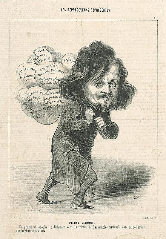 Honoré Daumier – Pierre Leroux
