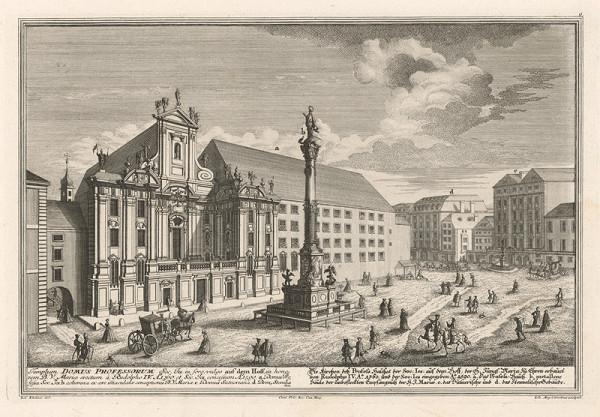 Salomon Kleiner, Johann August Corvinus – Kostol a námestie Am Hof vo Viedni