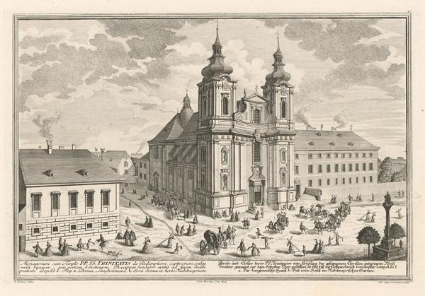 Salomon Kleiner, Johann August Corvinus – Kostol trinitárov vo Viedni
