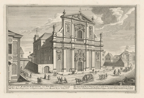 Salomon Kleiner, Johann August Corvinus – Dominikánsky kostol Panny Márie vo Viedni