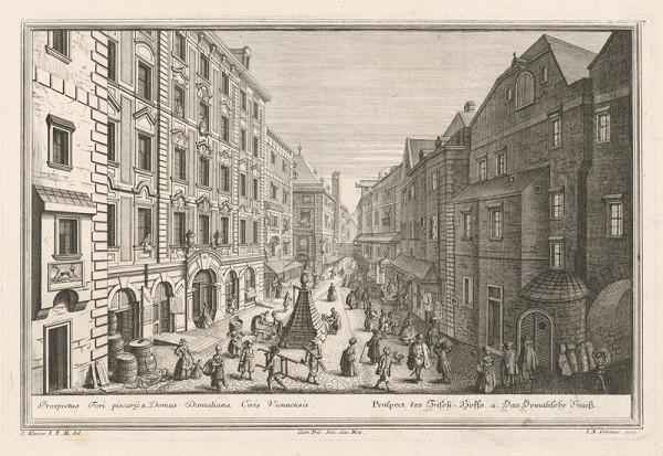 Salomon Kleiner, Johann August Corvinus – Pohľad na rybársky dvor vo Viedni