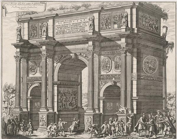 Pietro Paolo Girelli – Víťazný oblúk Konštantína Veľkého v Ríme