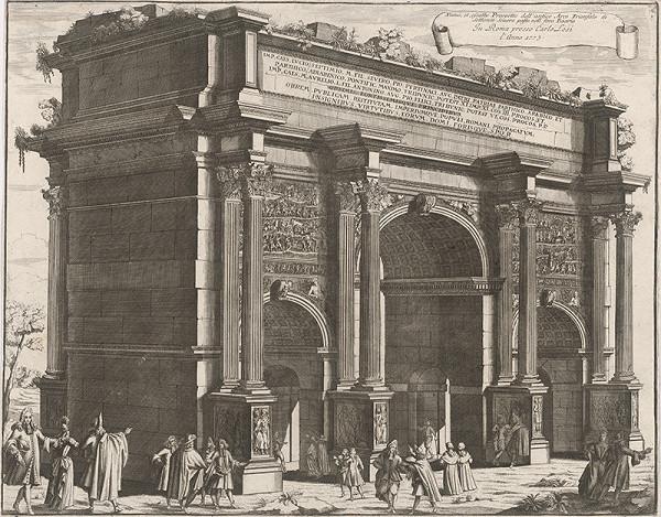 Pietro Paolo Girelli – Víťazný oblúk Septimia Severa v Ríme