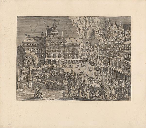 Pieter van der Borcht I. - Ohňostrojové predstavenie v Antverpách