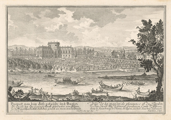 Joseph Emanuel Fischer von Erlach, Johann Adam Delsenbach - Palác grófa Althana v Rossau pri Viedni