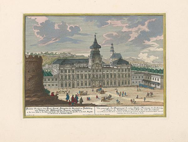 Franz Anton Danreiter, Johann August Corvinus – Zámok Mirabell v Salzburgu - východná strana