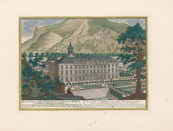Franz Anton Danreiter, Johann August Corvinus – Zámok Mirabell v Salzburgu - západná strana