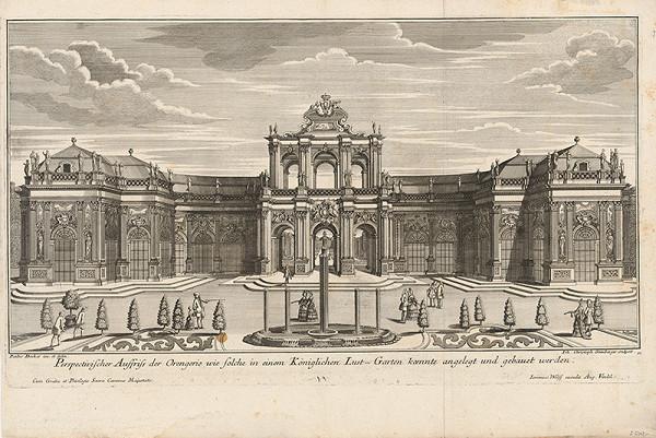 Johann Christoph Steinberger – Ideálny návrh na oranžériu v kráľovskej záhrade