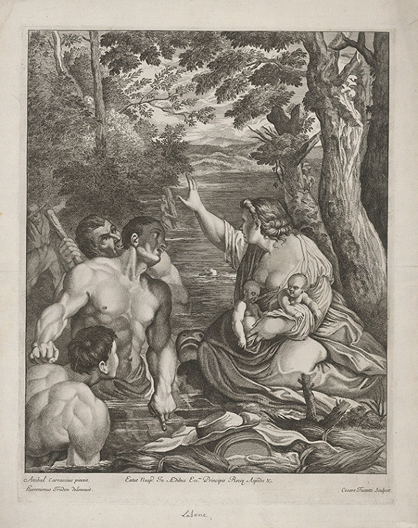 Annibale Carracci – Latona a sedliaci