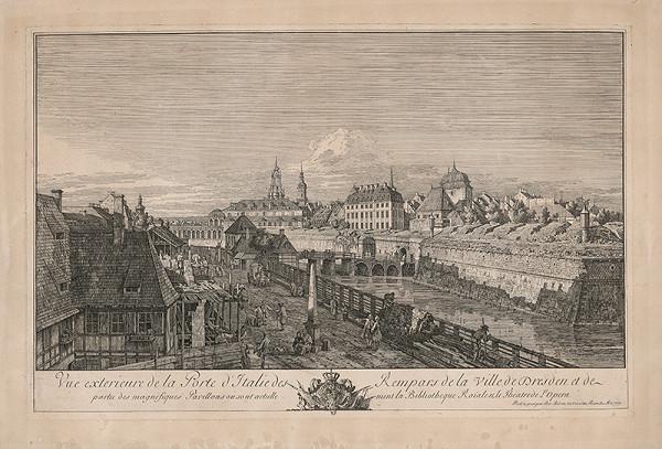 Bernardo Belotto – Pohľad na Drážďany s kráľovskou knižnicou a operou