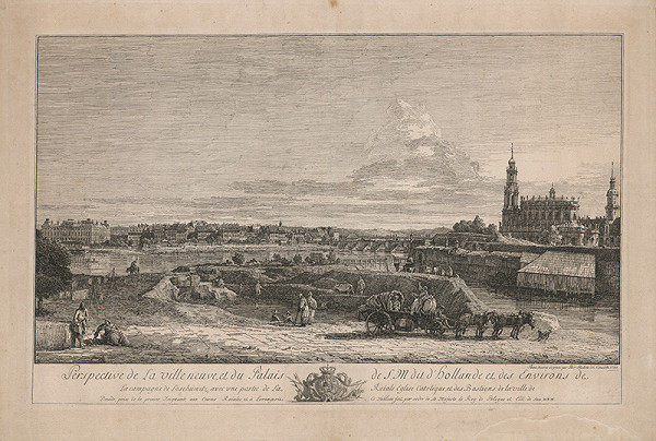 Bernardo Belotto – Pohľad na Drážďany – nové mesto a katolícky kostol