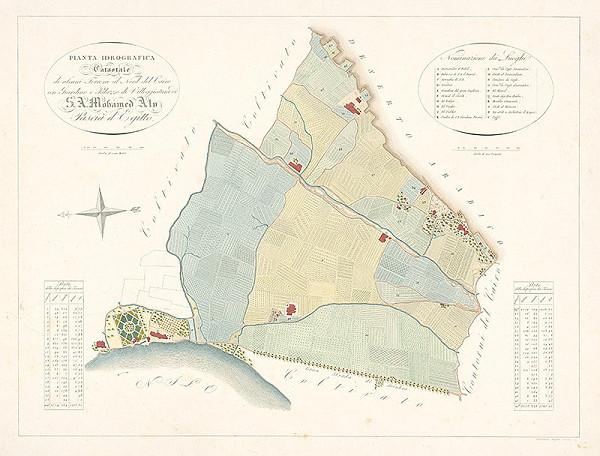 Girolamo Segato – Katastrálna mapa