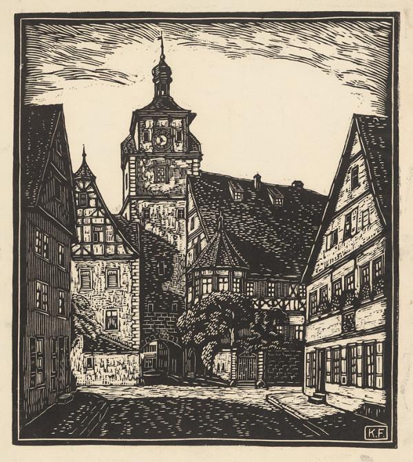 Karol Frech – Nádvorie s vežou