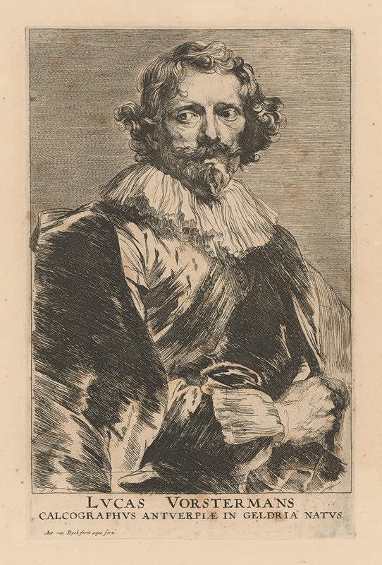 Anthony van Dyck - Portrét grafika Lucasa Vorstermana (z cyklu Ikonografia)