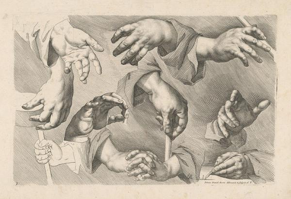 Johann Daniel Herz st. - List č. 3 k druhej časti návodu na kreslenie (Anweisung zum Zeichnen, II/3)