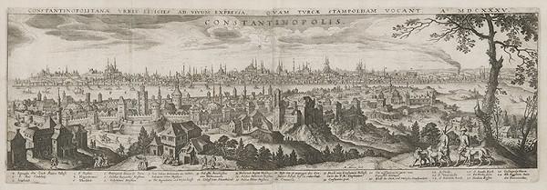 Matthäus Merian st., Neznámy autor predlohy – Pohľad na Konštantínopol - Carihrad