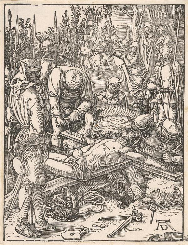 Albrecht Dürer - Pribíjanie Krista na kríž