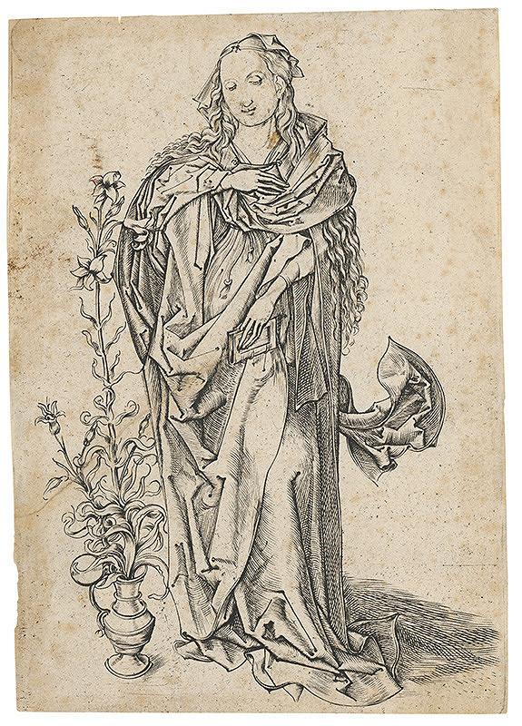 Martin Schongauer, Neznámy grafik – Madona s ľaliou