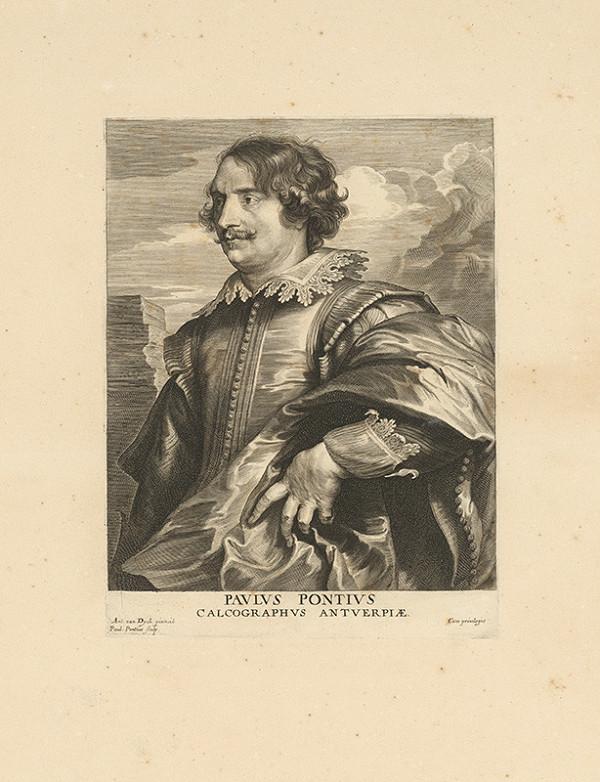 Anthony van Dyck, Paulus Pontius - Portrét maliara Paula Pontia
