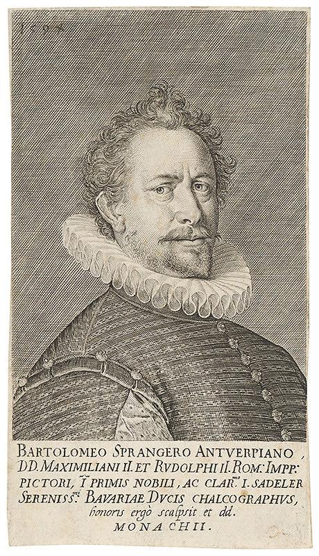 Jan Sadeler I. - Portrét maliara Bartholomea Sprangera