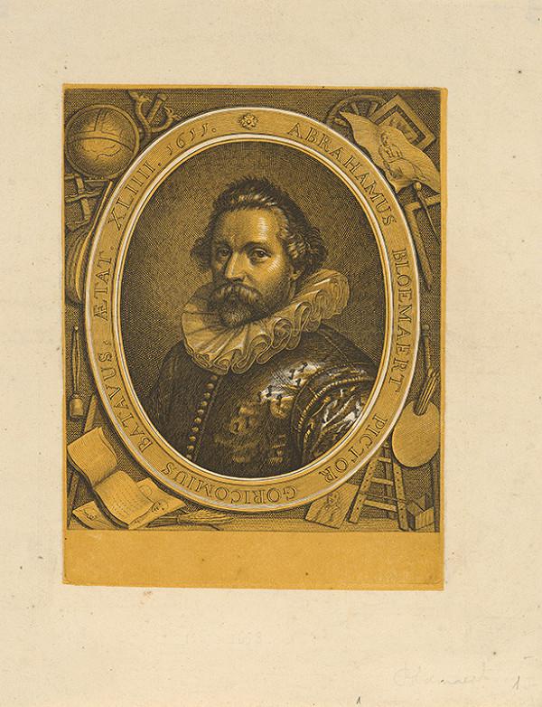 Abraham Bloemaert, Neznámy grafik - Portrét maliara Abrahama Bloemaerta