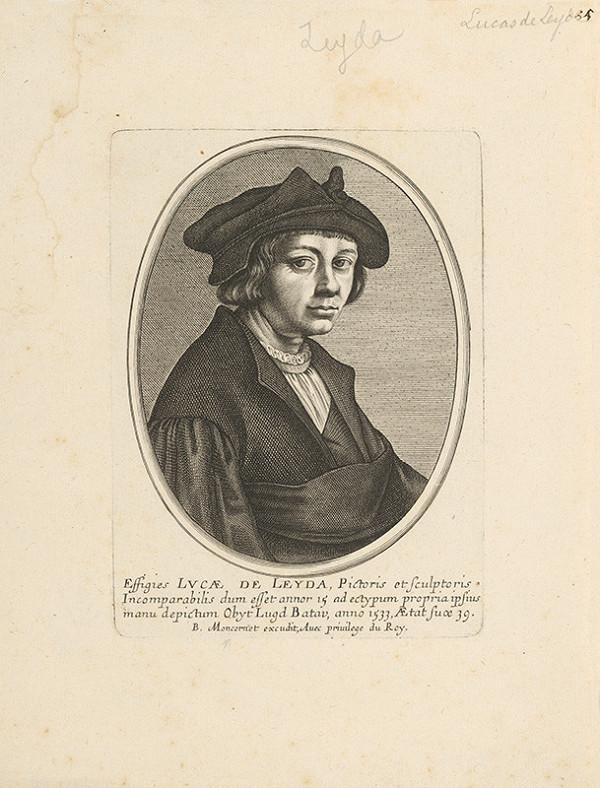 Lucas van Leyden, Neznámy grafik, Balthasar Moncornet – Portrét maliara a grafika Lucasa van Leyden