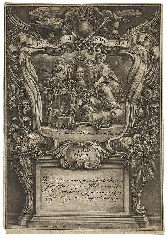 Peter Schubert Ehrenberg, Elias Christoph Heiss – Alegorický portrét cisára Leopolda I.