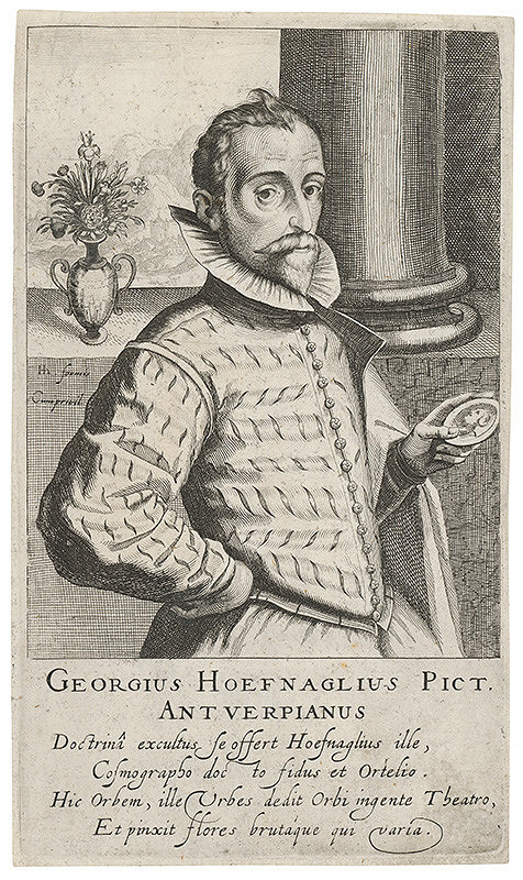 Hendrik Hondius I. – Portrét Georga (Jorisa) Hoefnagela