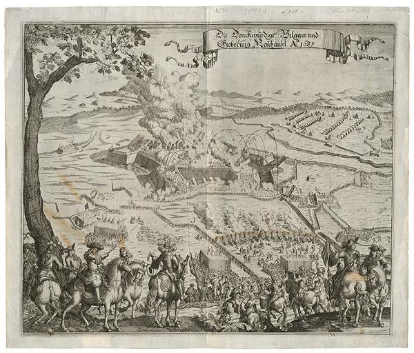 Neznámy grafik – Obliehanie Nových Zámkov v roku 1685