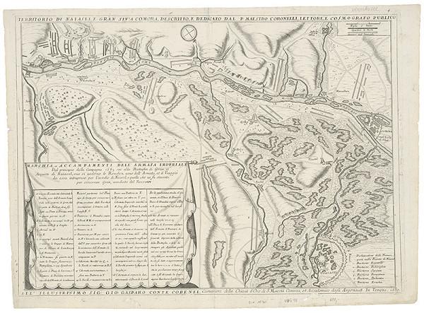 Neznámy grafik - Mapa širšieho okolia Komárna a Nových Zámkov