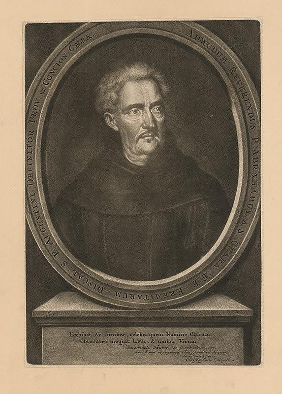 Christoph Weigel st. – Abraham a Sancta Clara, kazateľ a náboženský spisovateľ