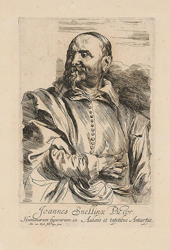 Anthony van Dyck - Joannes Snellinx, antverpský maliar figuralista