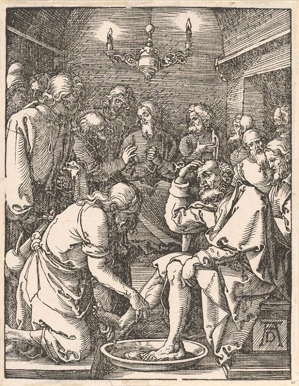 Albrecht Dürer - Umývanie nôh apoštolom