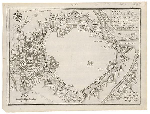 Neznámy grafik – Pôdory opevnenia Viedne a podkopávania pri tureckom obliehaní v roku 1683