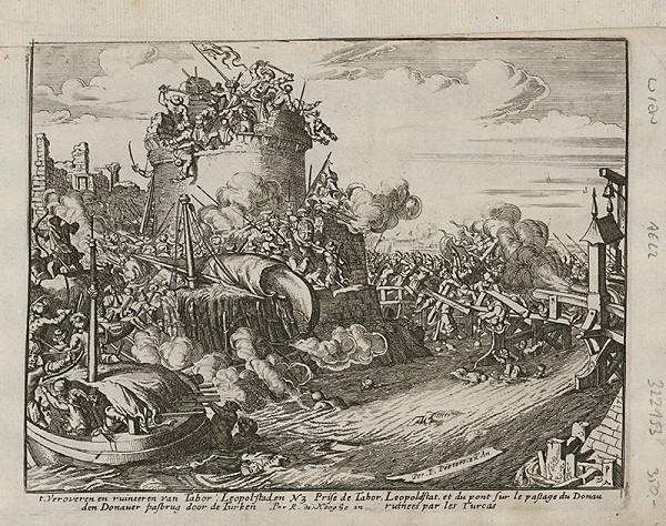 Romeyn de Hooghe, Neznámy grafik – Obliehanie Viedne Turkami - dobývanie veže